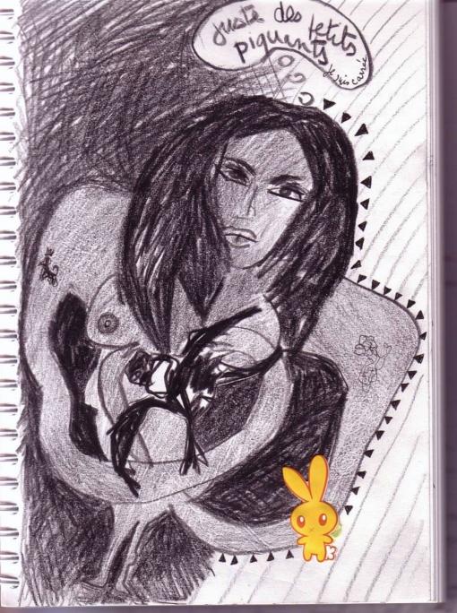 dessin au crayon gras plus collage,toulouse ,2009
